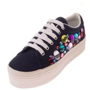 JEFFREY CAMPBELL Platform Sneakers Navy & White